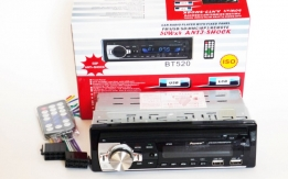 Автомагнитола Pioneer BT520 ISO - MP3, FM, 2xUSB, SD, AUX, BLUETOOTH
